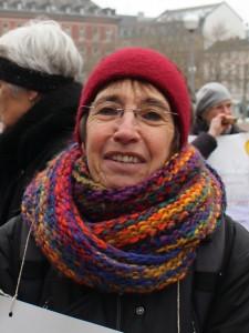 """auf einer Demonstration in Wiesbaden am 21. Januar 2017, anlässlich des 45. Jahrestages des """"Radikalenerlasses"""""""
